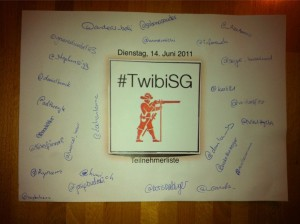 Teilnehmer #TwibiSG Juni 2011